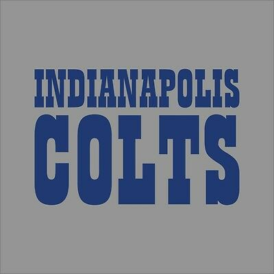 Indianapolis colts 3 nfl team logo vinyl decal sticker car window wall cornhole