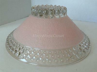 Vintage ART DECO Pink Hobnail Glass Ceiling Light Fixture Lamp Shade
