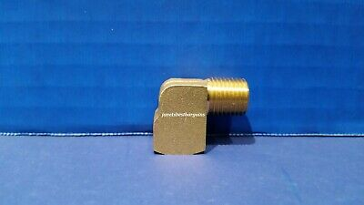 Solid Brass Street Pipe 90 Degree Elbow 1/4 Inch Male Female NPT Air Fuel Water