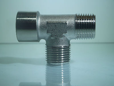 1/8 Bsp Male Centre Tee with 1/8 Bsp 1 Male & 1 Female 3 Way Tee Fitting 1 Off