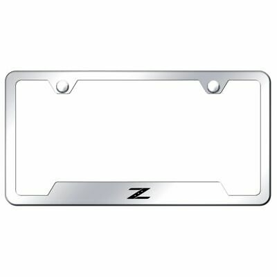 nissan z stainless steel license plate frame logo tag mirror bright chrome