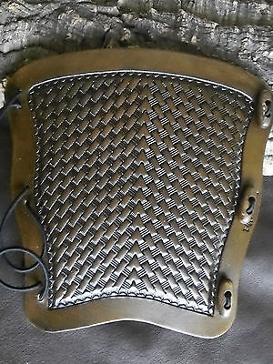 Arrow Basketweave (type 2) leather archery arm guard,bracer,armguard,larp,pagan