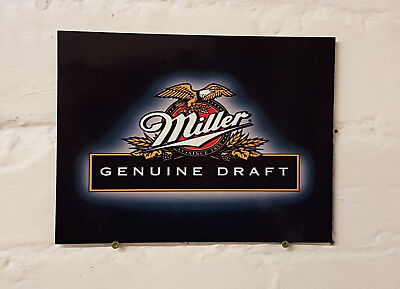 MILLER pub bar Sign Retro metal Aluminium larger beer signs man cave shed den