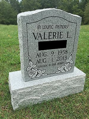Granite Memorial Headstone DIe & Base (5 Options)