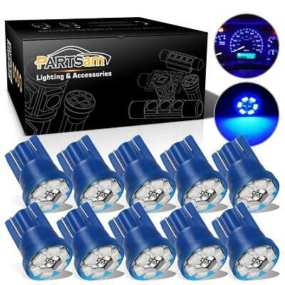 10x Bright Blue 6 SMD LED 194 T10 Wedge Instrument Cluster Light Bulb For Olds