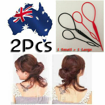 2pcs MAGIC HAIR STYLING TOPSY PONYTAIL BACK BRAID MAKER STYLER TAIL MAKER TOOLS
