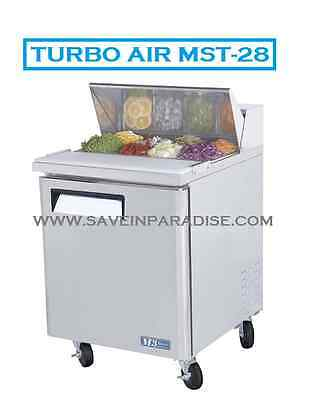 Turbo Air MST-28 1-Door Refrigerated Sandwich Prep Table