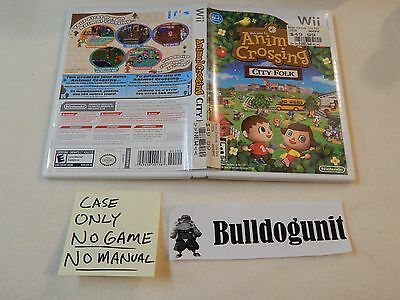 Animal Crossing City Folk CASE ONLY NO GAME NO MANUAL Nintendo Wii
