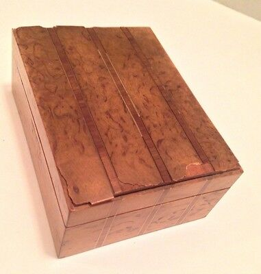 Made In Austria Antique Wood Box-jewelry/trinket case, Austrian
