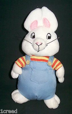 MAX Cartoon White Rabbit Bunny Beanie Babies Ty Plush Stuffed Animal