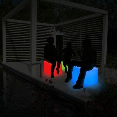 ThumbsUp flashing LED Bar Bedroom Stool Cube Seat Chair Light Lights Lamp