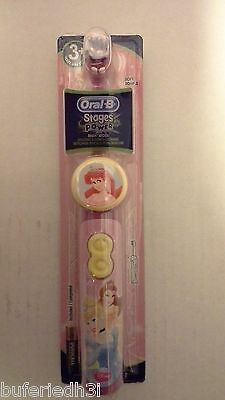 ORAL-B PRINCESS Stages Power Spin Brush Battery Powered ToothBrush New Authentic