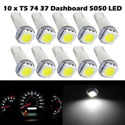 10x Ultra Bright T5 37 73 74 Instrument Dash LED Light Bulbs White for Toyota