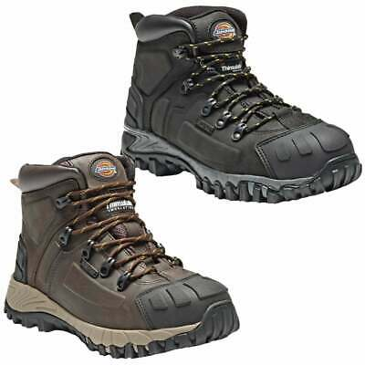 DICKIES MEDWAY | Waterproof Safety Boots Hiker | STEEL TOE | Leather Black/Brown