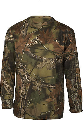 Men's Long Sleeve CAMO-CAMOUFLAGE T-Shirt, Hunting Camping Basic Tee