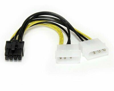 StarTech.com (6 inch) LP4 to 8 Pin PCI Express Video Card Power Cable Adaptor