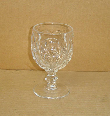 EAPG CRYSTAL FLINT VERNON HONEYCOMB THOUSAND FACES GOBLET BAKEWELL PEARS 1869