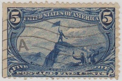 (RY20) 1898 USA 5c blue Fremont Rocky mountain (B)