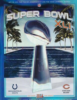 2007 NFL SUPER BOWL XLI- INDIANAPOLIS COLTS v CHICAGO BEARS  OFFICIAL PROGRAMME