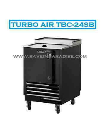 "Turbo Air TBC-24SB 24"" Black Vinyl Bottle Cooler"
