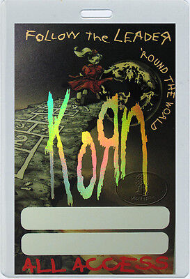 Korn 1998 Follow The Leader Laminated Backstage Pass