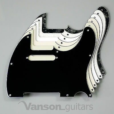 NEW Vanson 3ply Scratchplate for Squier Telecaster Tele ®* project Pickguard TC2