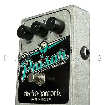 Electro-Harmonix Stereo Pulsar Analog Tremolo Variable Guitar Effects Pedal NEW