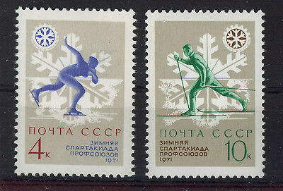 RUSIA/URSS  RUSSIA/USSR 1970  SC.3796/3797  MNH Trade Union winter games