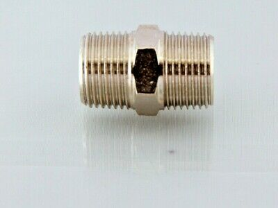 Straight Bsp Male to Male Nipples, Equal Male Full Range Bsp Nickel Plated Brass