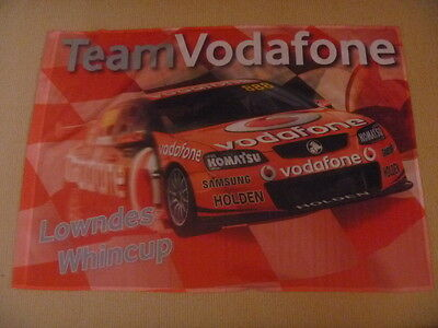 Holden - Team Vodafone - Lowndes - Whincup - Flag  - New - Red