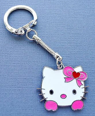 1 pc Keychain Ring Fob Purse Charm Hello Kitty Pink Bow Pendant  C104
