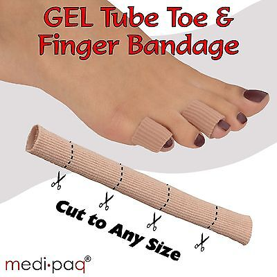 MEDIPAQ™ Gel Tube Toe / Finger Bandage - Sore Cuts Blisters Corns Calluses Pain