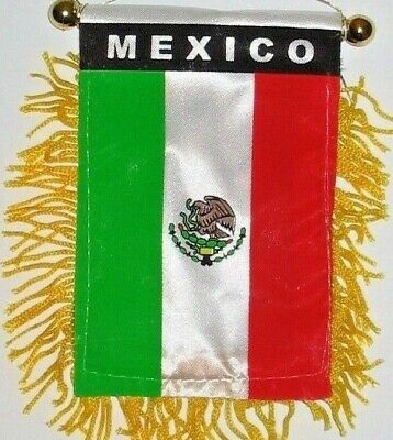 """Mexico - Mexican Mini Flag for Car & Home 4""""x6"""" Both Sides Have Design (2 SIDED)"""