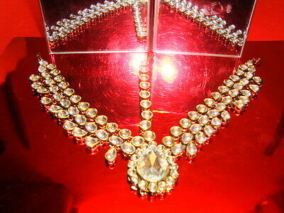 Wedding Bridal Exclusive Silver Diamante Matha Patti Head Jewellery Bollywood 25