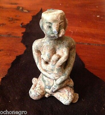 14th C. Nursing Mother Narcotic Miang Chewer Post Khmer Sukhothai Thai Statue