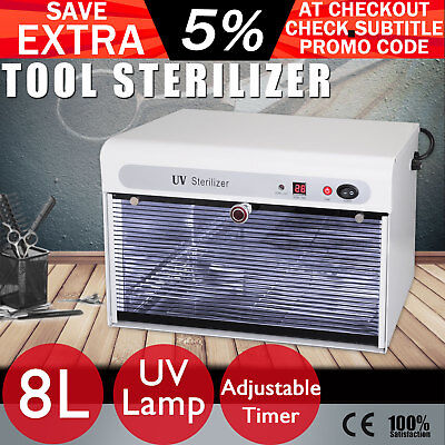 UV Tool Sterilizer Cabinet Steriliser Salon Beauty Spa Nail Disinfection 8L