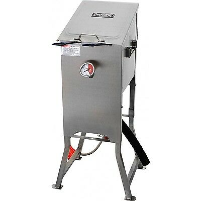 Large 4 Gallon Outdoor Gas Deep Fryer w Dual Basket Stainless Steel Turkey Chick