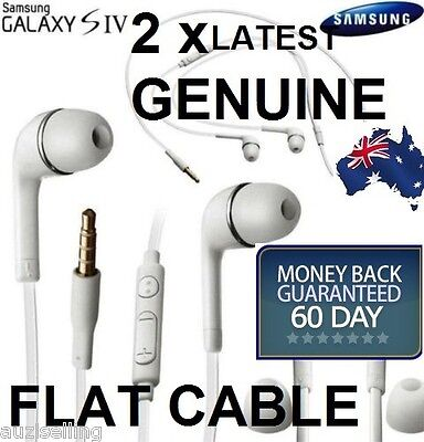 2X GENUINE Handsfree Headphone Earphone for Samsung Galaxy S5 S4 S3 Note Note2
