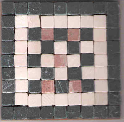 Roman Style Mosaic kit- Makes 2 coasters using stone tiles - No cutting required