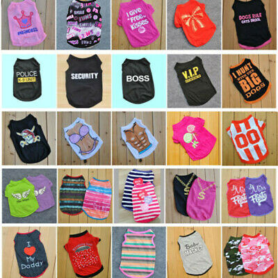Hot Summer Various Pet Puppy Small Dog Cat Pet Camouflage Clothes Vest Apparel