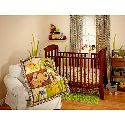 Little Bedding by NoJo - Jungle Dreams 3pc Crib Bedding Set .