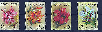 RUSIA/URSS  RUSSIA/USSR 1989  MNH SC.5757/5760 Cultivated Lilies