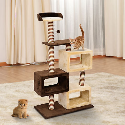 PawHut Cat Tree Teaser with Scratching Post Kitty Tower Furniture Pet Play House