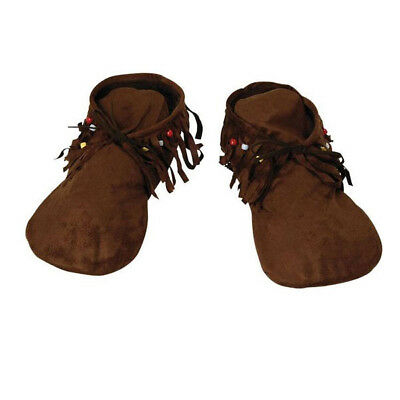 Mens Ladies Native Red Indian Or Hippy Hippie Moccasins Fancy Dress Shoe Shoes