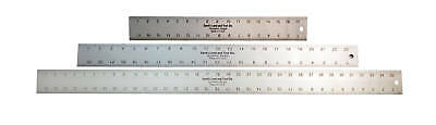 3 Extra Thick Sands Aluminum Rulers 18/24/36 Combo -USA