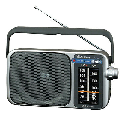 AM/FM Portable Radio Speaker/Earphones Plug Jack/on Battery or Mains Power AC/DC