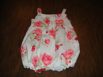 Janie And Jack 6-12 Gorgeous Floral Romper Outfit  Strawberry Fields