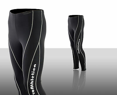 Mens Winter Cool Max Padded Cycling Tights Trousers Running Thermal Leggings