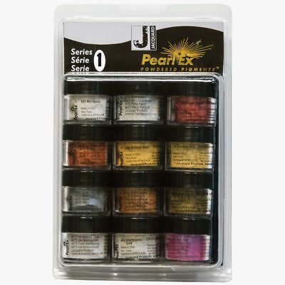 Jacquard Pearl Ex - Powdered Mica/Metallic Pigments - Series 1 - 12 Pack