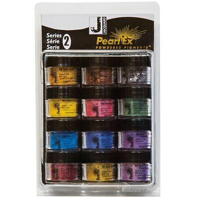 Jacquard Pearl Ex - Powdered Mica/Metallic Pigments - Series 2 - 12 Pack